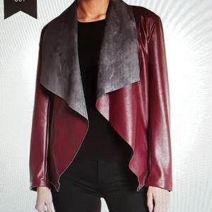 NWT  Tahari  Faux Leather  Moto Jacket.  Medium
